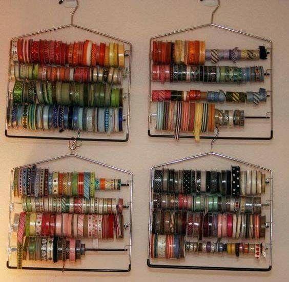 Удобные способы хранения лент и декоративных ниток 3
