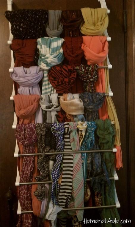 Как удобно хранить шарфы 5