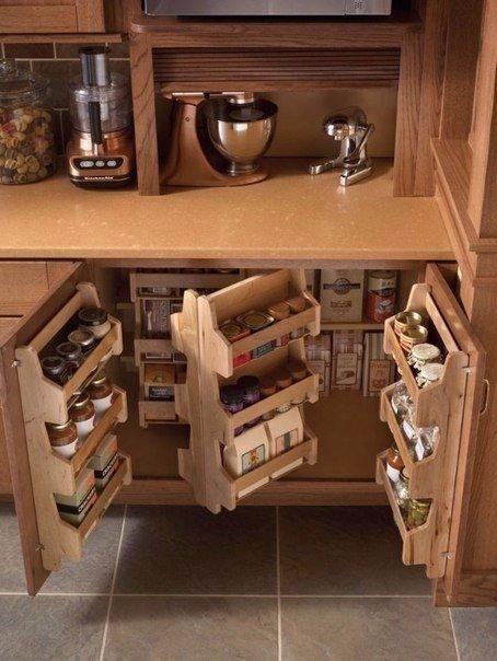 8 бесконечно удобных способов сэкономить место на кухне 2