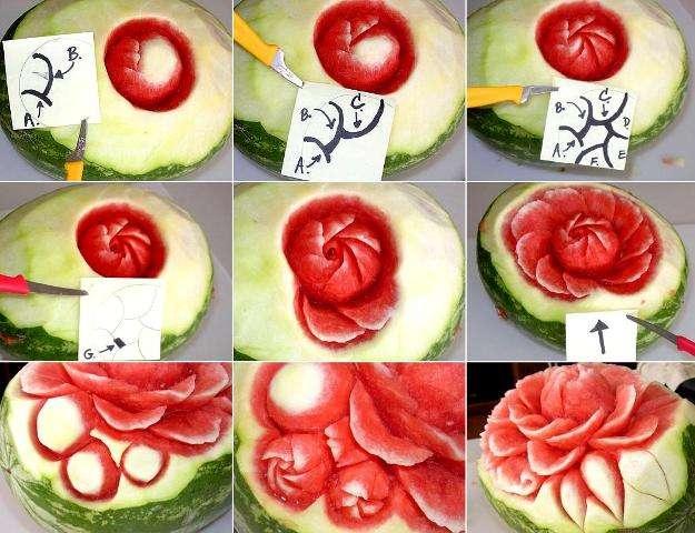 Как сделать красивые украшения из еды 7