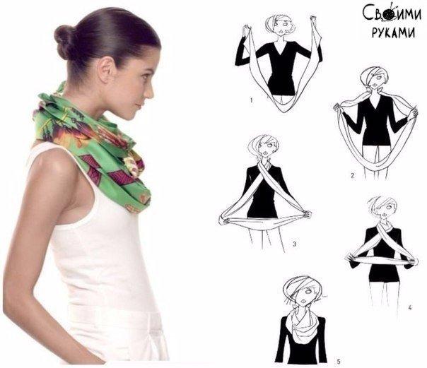 Как стильно завязать платок 2