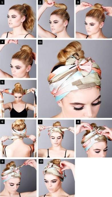Как использовать платок на голове как стильный аксессуар 1