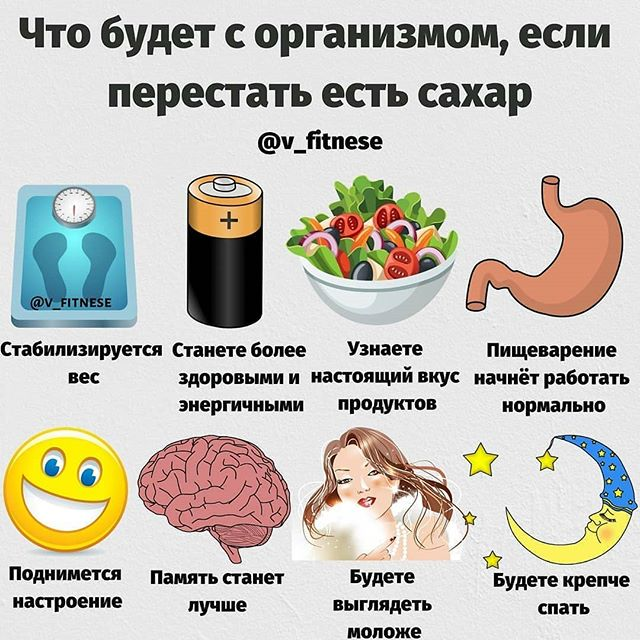 Что будет с организмом, если перестать есть сахар 0