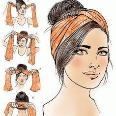 Как использовать платок на голове как стильный аксессуар 3