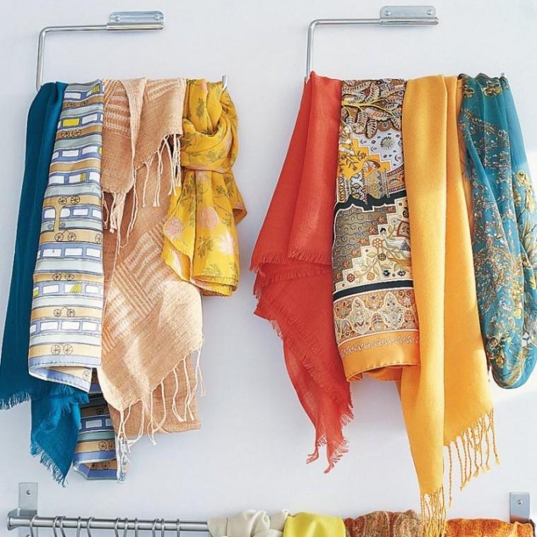 Как удобно хранить шарфы 2