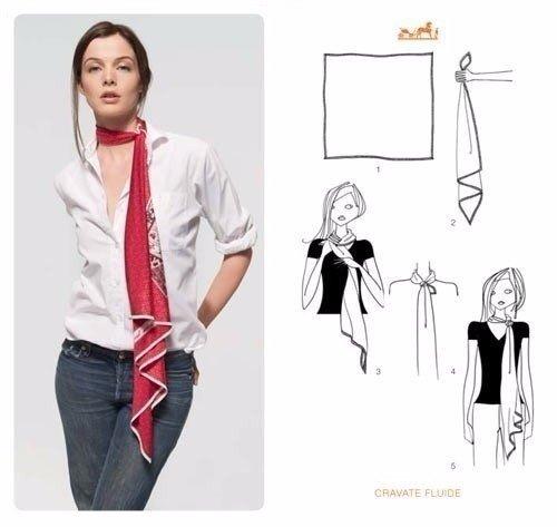 Как стильно завязать платок 3