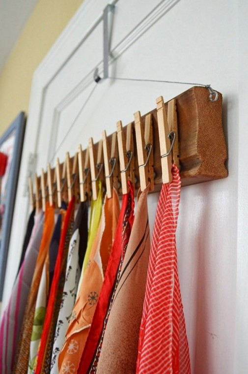 Самые разные способы хранения шарфов 8