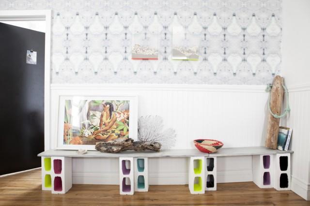 Как использовать шлакоблоки в декоре дома 3