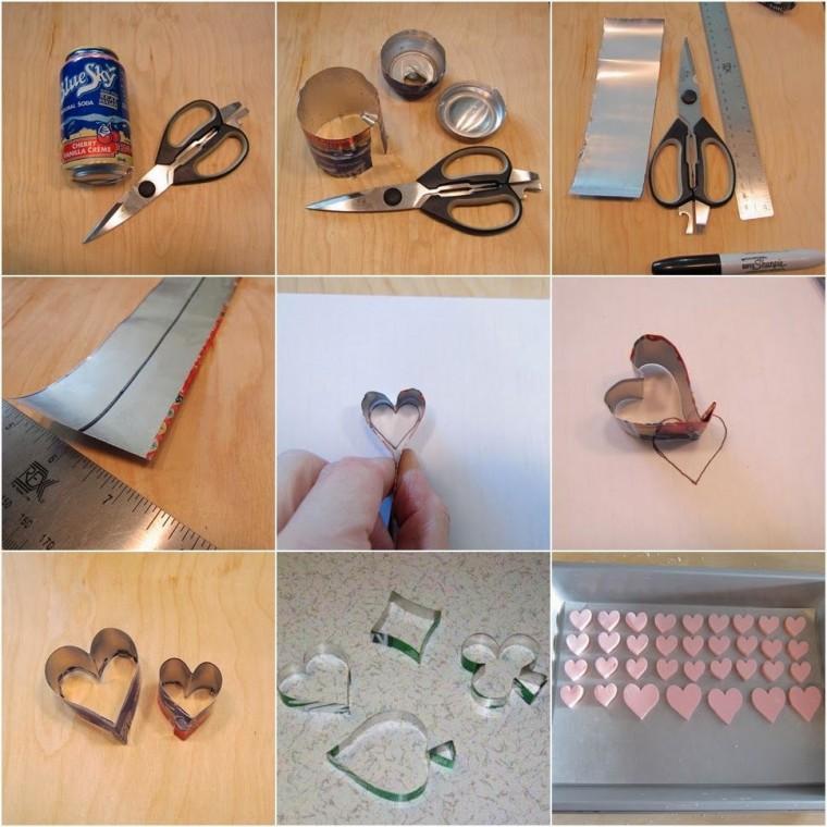 Как сделать фигурные формочки для печенья из жестяной банки 4
