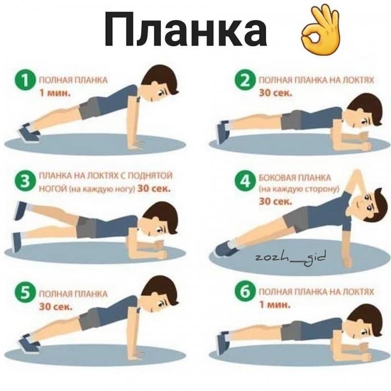 Упражнения Планки Для Похудения.