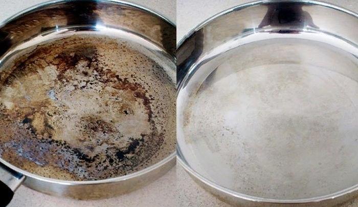 Кристальная чистота металлической посуды с помощью экосредства 0