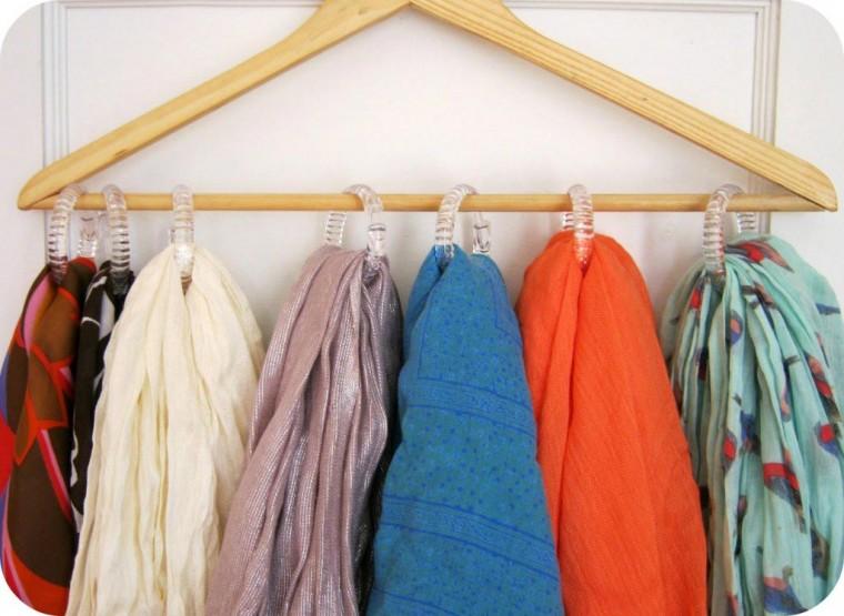 Самые разные способы хранения шарфов 1