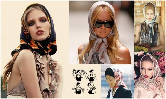 Как использовать платок на голове как стильный аксессуар 6
