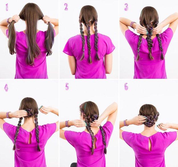 Как сделать красивые прически для длинных волос 5