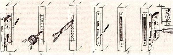 Как врезать замок в межкомнатную дверь 0