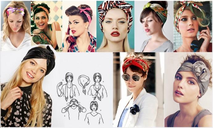 Как использовать платок на голове как стильный аксессуар 5