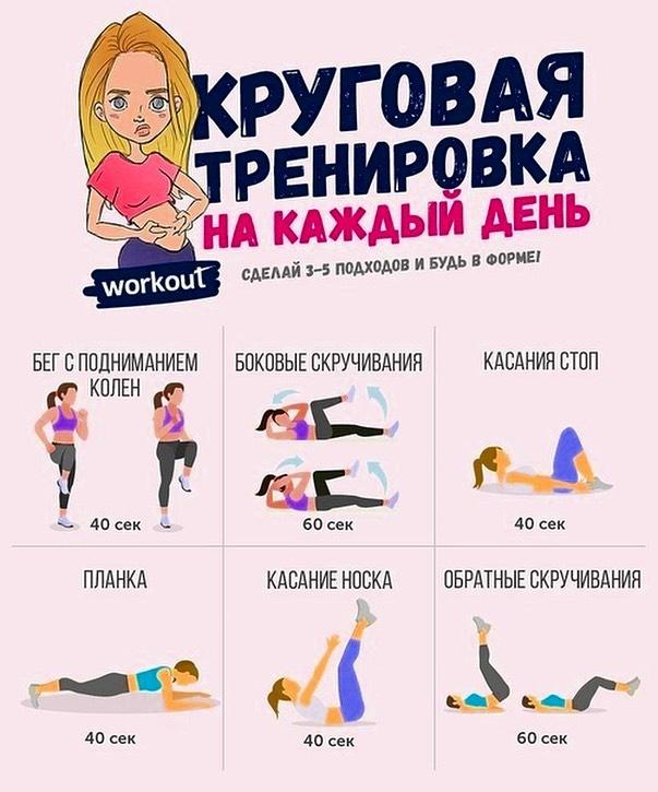 круговая тренировка для похудения для девушек