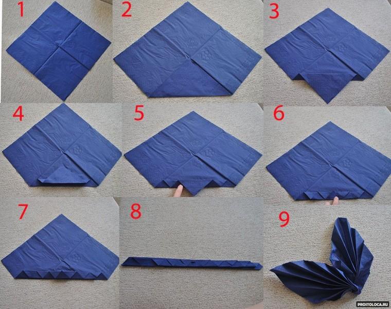 Умело сложенная салфетка как украшение стола 6