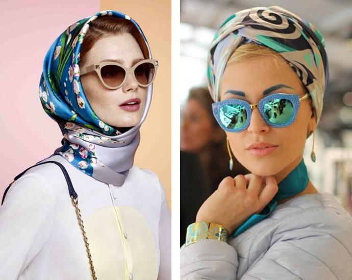Как использовать платок на голове как стильный аксессуар 7