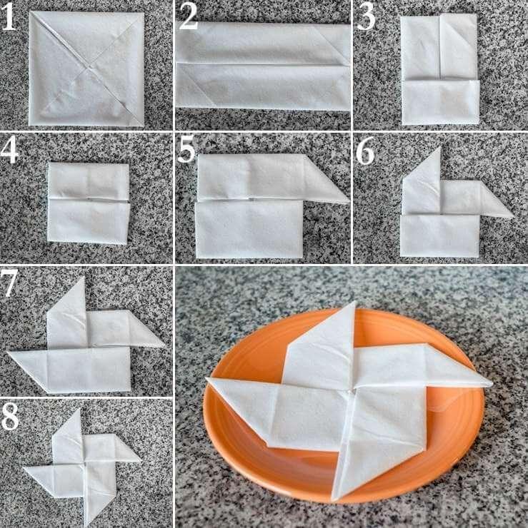 Умело сложенная салфетка как украшение стола 3
