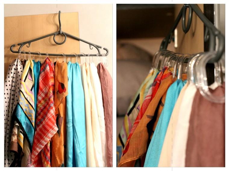 Самые разные способы хранения шарфов 2