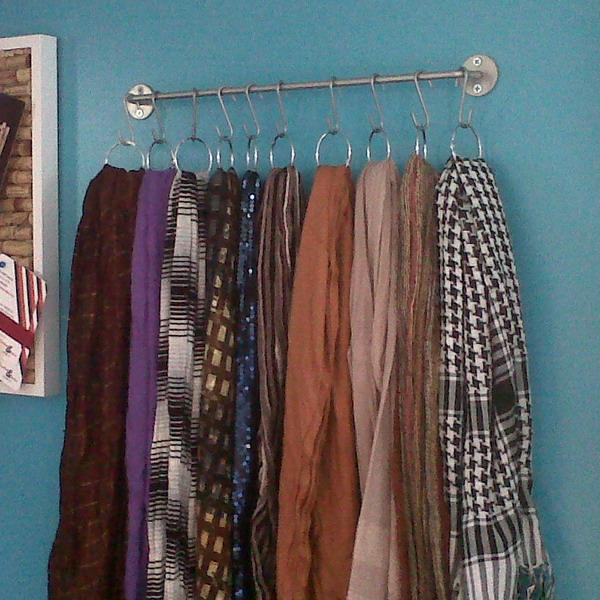 Самые разные способы хранения шарфов 4