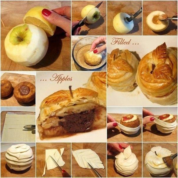 Как сделать полезный и красивый десерт из яблока 0