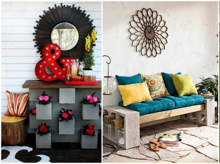 Как использовать шлакоблоки в декоре дома 15