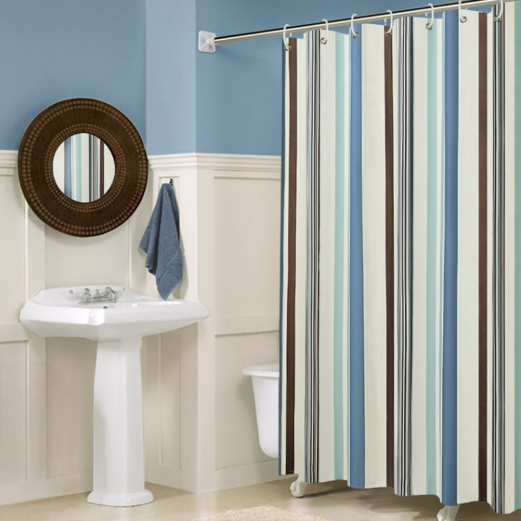 Обновляем штору в ванной комнате 0
