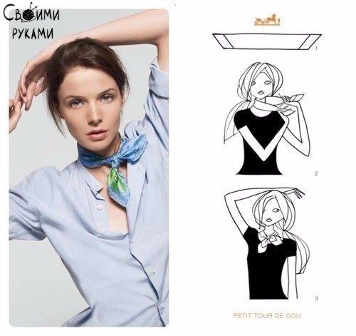 Как стильно завязать платок 1