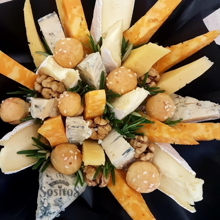 Букет с сыром и яйцом, магазин дедовск флористика