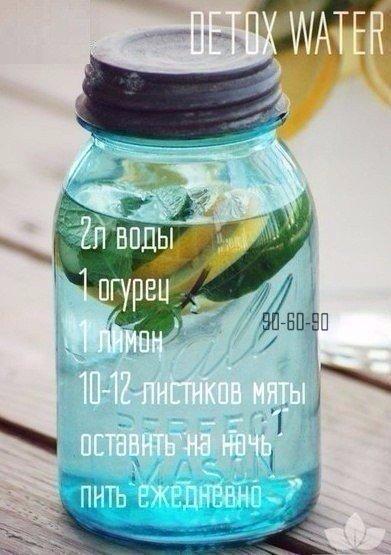 Как приготовить детокс-воду для снижения веса 0