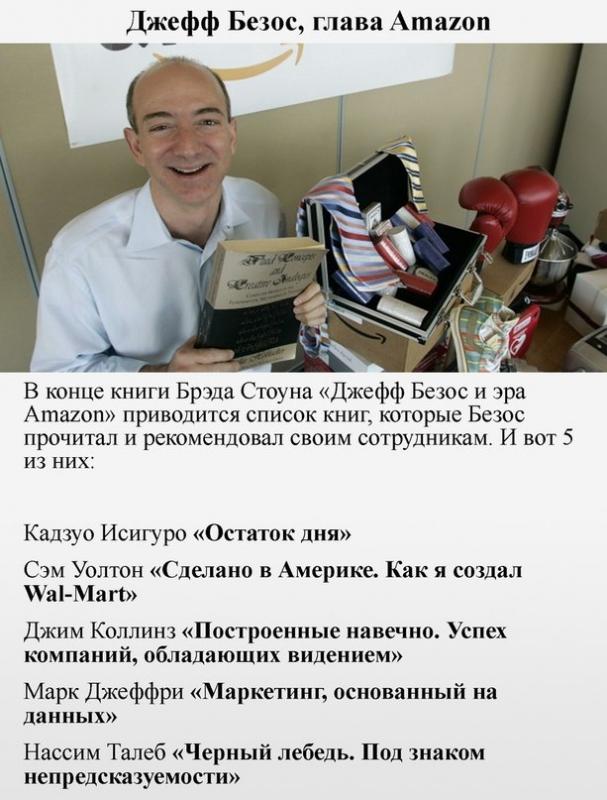Какие книги являются любимыми у 6 миллиардеров и какие они советуют читать всем 5
