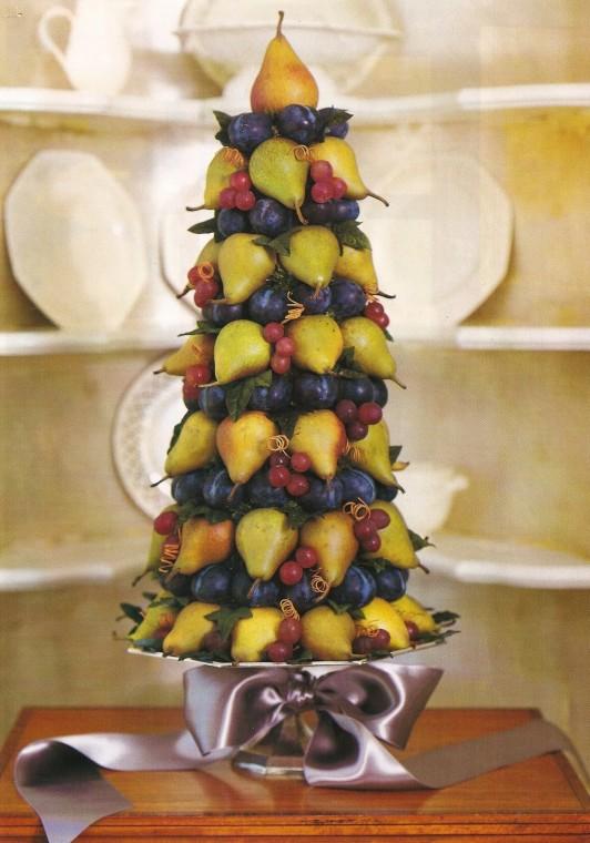 Идеи для съедобных пирамид для украшения стола 8