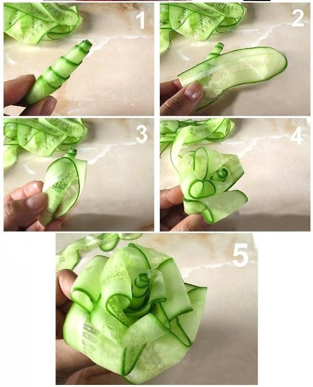 Как сделать красивые украшения из еды 4