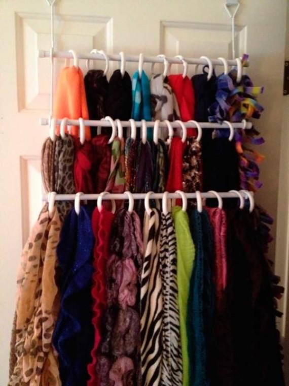 Как удобно хранить шарфы 3