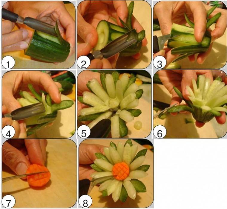 Как сделать красивые украшения из еды 3