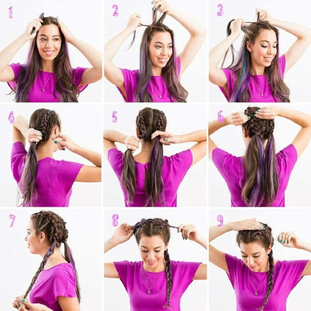 Как сделать красивые прически для длинных волос 9