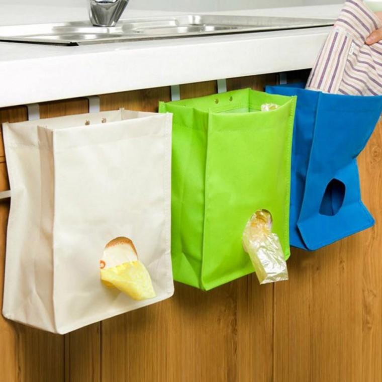 Как удобно хранить пакеты, чтобы они не занимали много места и их было легко достать 1