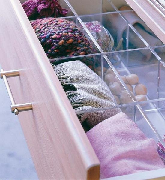 Самые разные способы хранения шарфов 10