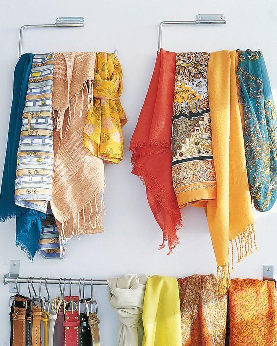 Самые разные способы хранения шарфов 9
