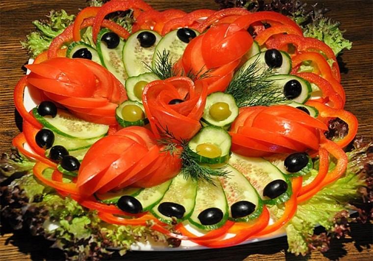 Много способов простого и красивого оформления овощной нарезки 0
