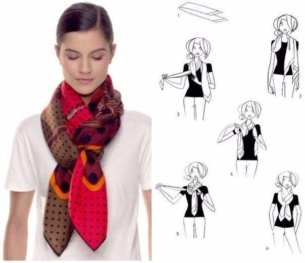 Как стильно завязать платок 0