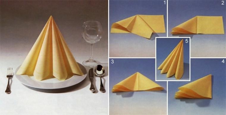 Умело сложенная салфетка как украшение стола 11