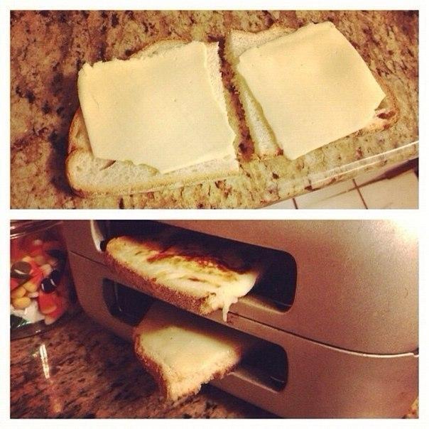 Как сделать горячий бутерброд в тостере