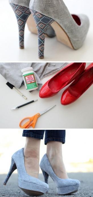 Как можно обновить старые туфли 0