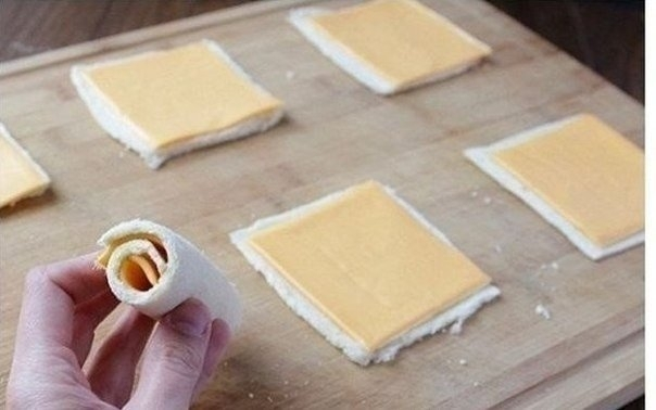 Как приготовить необычный бутерброд с сыром. 4