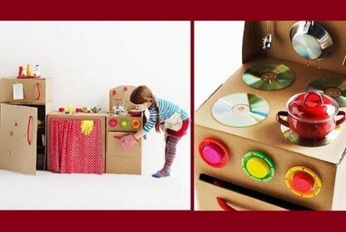 Потрясающие игрушки из коробок. 0