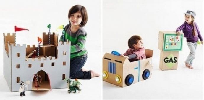 Потрясающие игрушки из коробок. 2