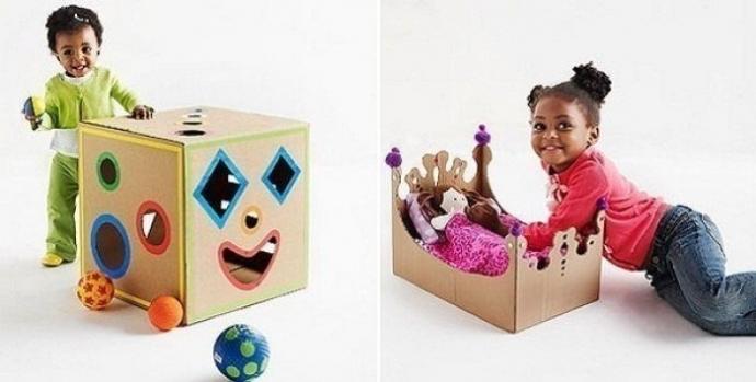 Потрясающие игрушки из коробок. 3